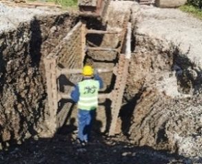 izvajanje izkopa in opaževanja kanala K3