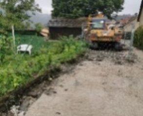 izvajanje izkopa in zasipanja za izvedenimi deli, kanal K3