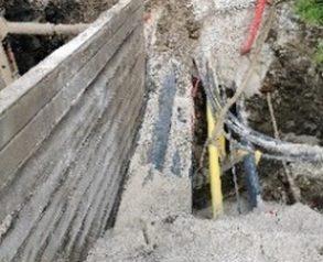 izvajanje del na kanalu K3, varovanje izkopa ob obstoječih inštalacijah