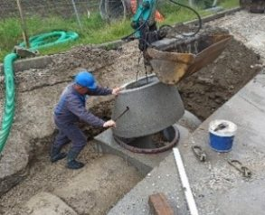 vgradnja AB jaška na kanalu C