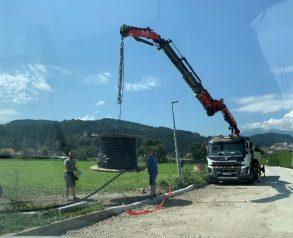 Razvijanje kabla pred polaganjem - 7.8.2020