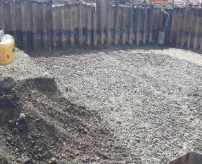 Zemeljska dela po vgradnji zagatnic - 26.8.2020