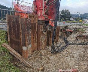 Izkop med zagatnimi stenami, priprava na podboj Izvajanje podboja - 12.8.2020 - 18.8.2020