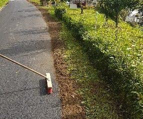Izvedba humusiranja ob asfaltu - 26.9.2020