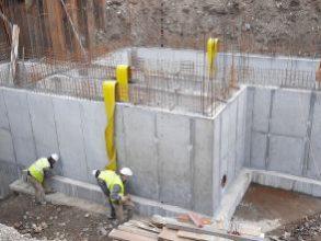 Betoniranje sten vhod. črpališča do višine -2,25 - 5.11.2020
