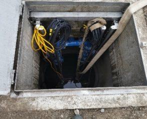 Črpalni jašek z dvižnimi vodi in črpalkami P2 - 4.12.2020