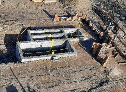 Zasipanje vhodnega črpališča in priprava na pasovne temelje – 7.12.2020