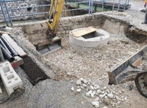 Vgradnja in zasip črpalnega jaška - 17.02.2021