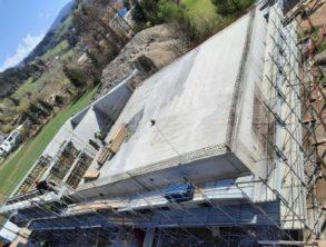 Betoniranje krovne plošče in opaženje sten A (1-3) - 22.4.2021