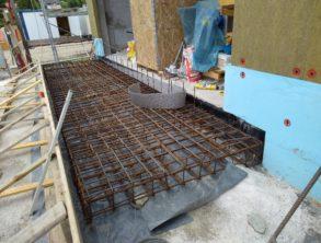 Pred betoniranjem plošče pred objektom – 01.07.2021