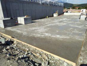 Izveden naklonski beton na krovni plošči – 15.07.2021