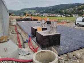 Izvedena hidroizolacije krovne plošče bazena – 22.07.2021